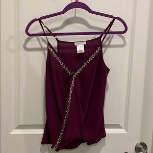 Socialite purple tank blouse